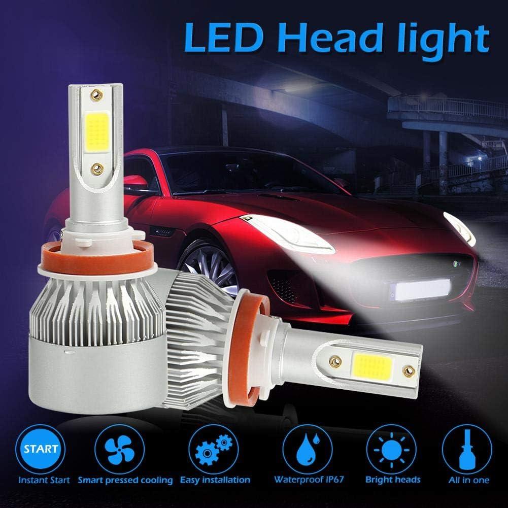 H11 Yanrifeng 1 Pair COB LED Car Headlight Bulbs 72W Headlamp Fog Light Silver