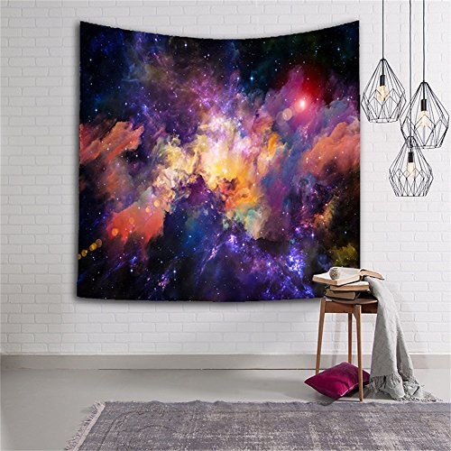 Star Cluster Space Decor Tapestry  Outer Space Tapestry Decorations Galaxy Stars Universe Milky Way  Bedroom Living Room Dorm Wall Hanging Tapestry Navy Purple Berry Turquoise Red Gt01   Color