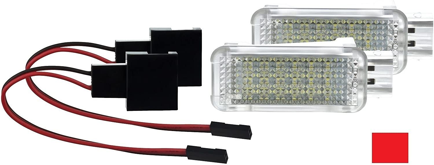 2 X Fußraumbeleuchtung Led Smd Modul Rot Auto