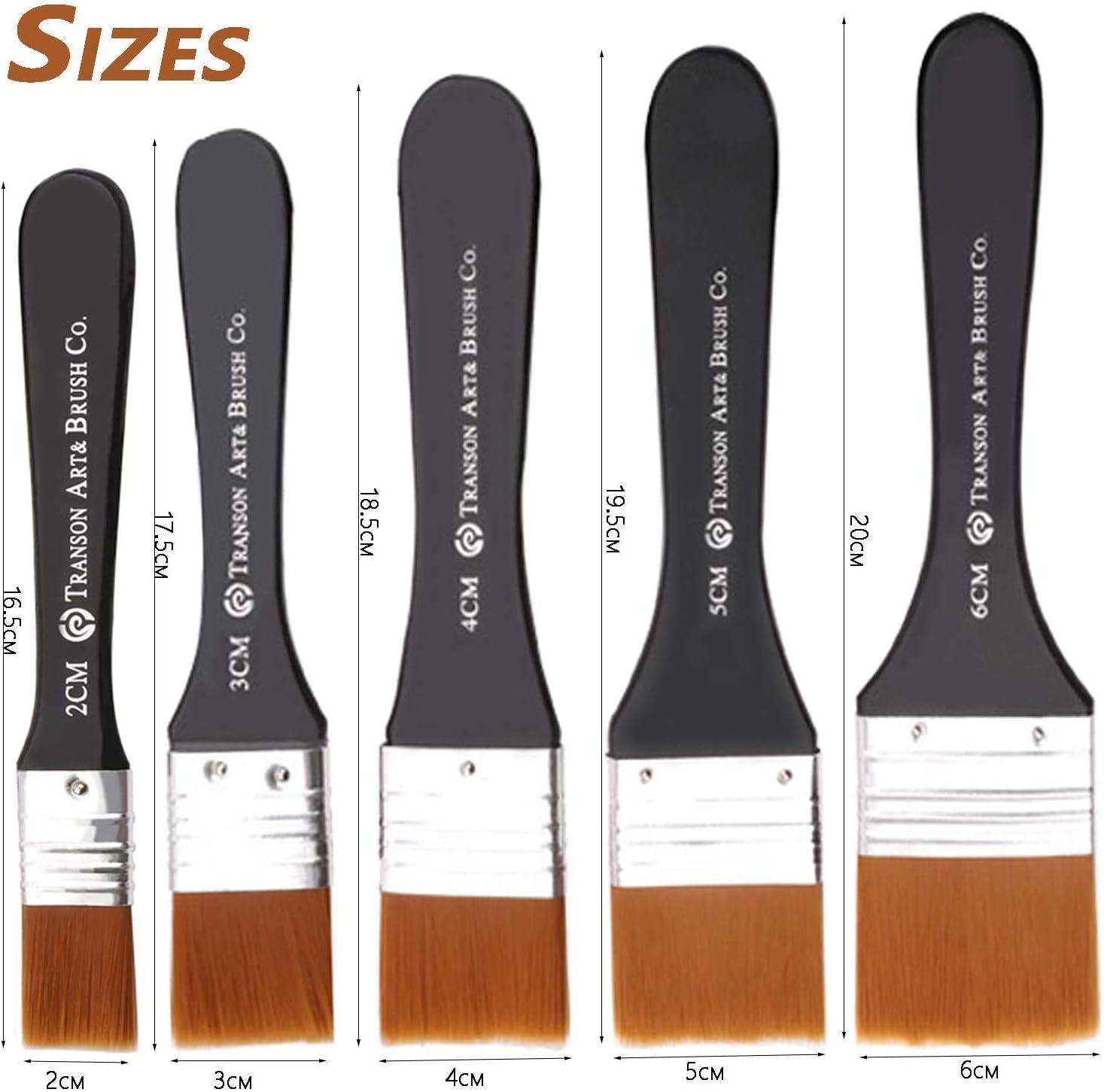 Set de 5 brochas planas de pintura con diferentes tama/ños 50,40,25,13mm