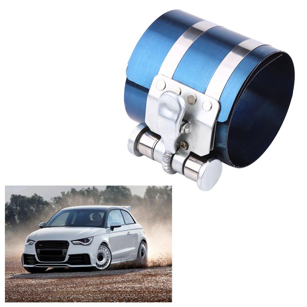 Alicates para instalar el compresor del anillo del pist/ón del motor del coche Qiilu kit de extracci/ón de carraca ajustable para instalador de pistones 53 mm 125 mm