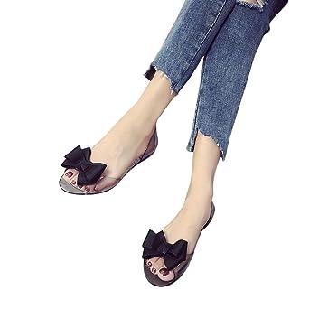 Hot Sale!Sandalen Damen Sonnena Frauen Mode Bogen Fisch Transparente flache Schuhe Casual Schuhe Sandalen PVC...