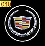 SunroadTek® 2 x 5th Gen LED car door Ghost Shadow laser projector logo light for Cadillac Eldorado Sedan de Ville Catera CTS XLR BLS STS SRX XTS DTS Escalade Elmiraj..
