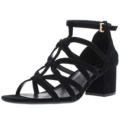 5dfe18437bc Image Unavailable. Image not available for. Color  Michael Michael Kors  Womens Sandra Suede Dress Sandals ...