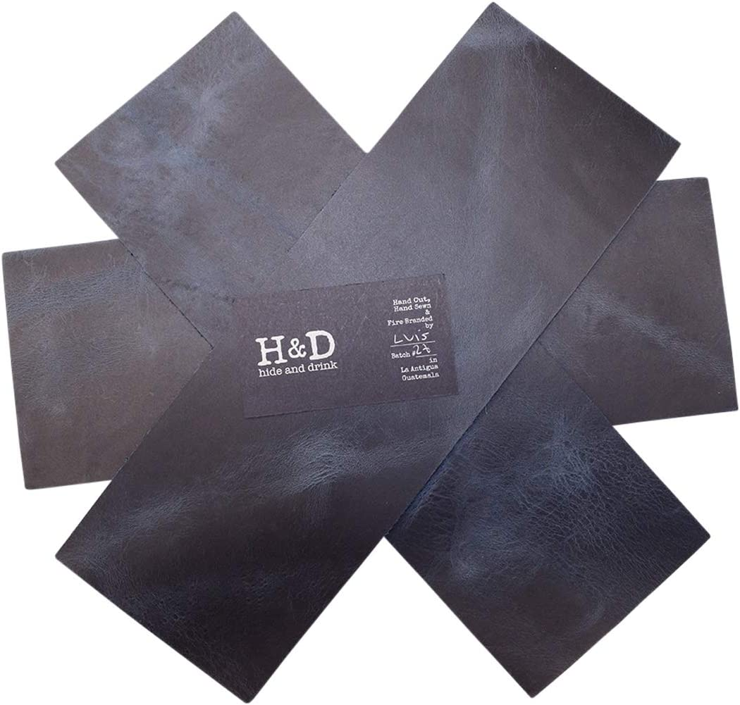 Hide /& Drink :: Charcoal Black Rustic Leather Rectangles 3 Piece Set for Crafts//Tooling//Hobby Workshop 1.6-1.8mm 4 x 12 in. Heavy Weight
