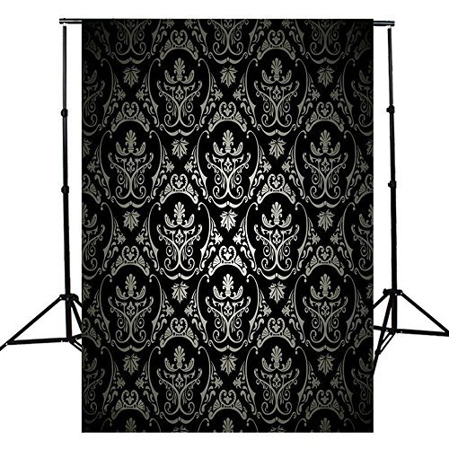 5x7ft Vinyl Cloth Live Black Maple Leaf Photography Background Studio Backdrop