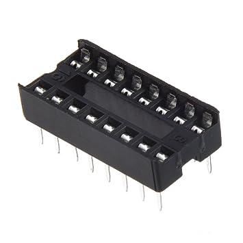 SODIAL(R) 30 x Adaptador Enchufe DIP IC Tipo de Soldadura 16 Pin 2.54mm: Amazon.es: Electrónica
