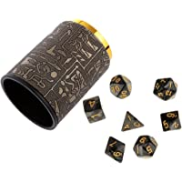 MagiDeal 7PCS Polyhedral Dice for Dungeons and Dragons DND Dice Casino Games+Dice Cup