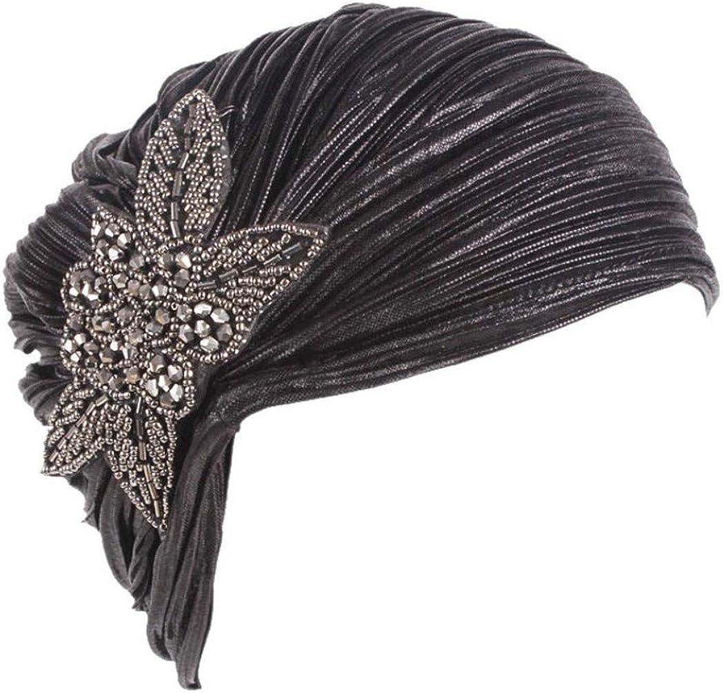 Elodiey Sombrero De Mujer Retro Mitblumen Sombrero De Sombrero Turbante ala Cap Años 20 Hood Primavera Sombrero De Otoño Sombrero