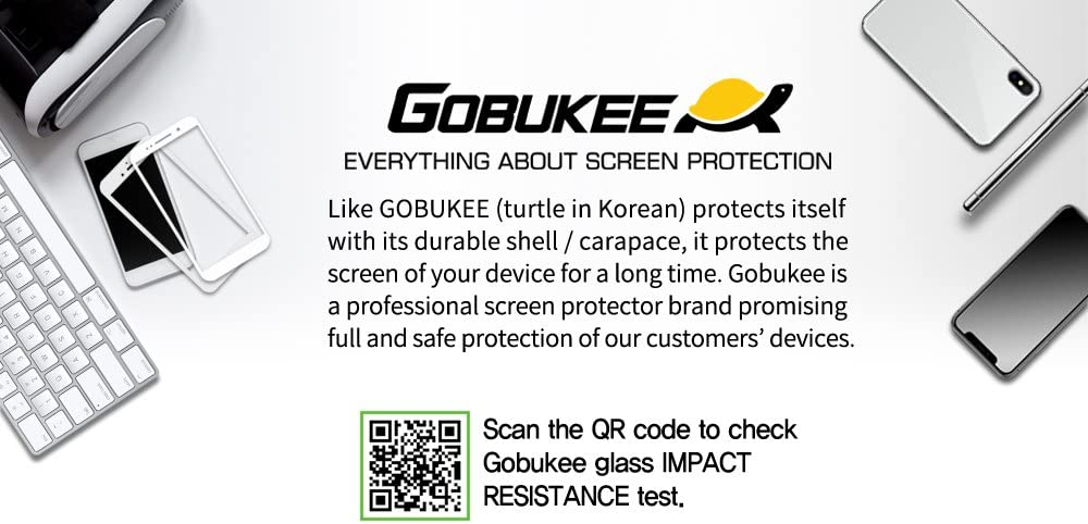 Camera Open Type GOBUKEE Dual Force Mirror Type Tempered Glass Screen Protector Compatible with iPhone 7 Plus and iPhone 8 Plus with Free Anti-Shock Back Protector