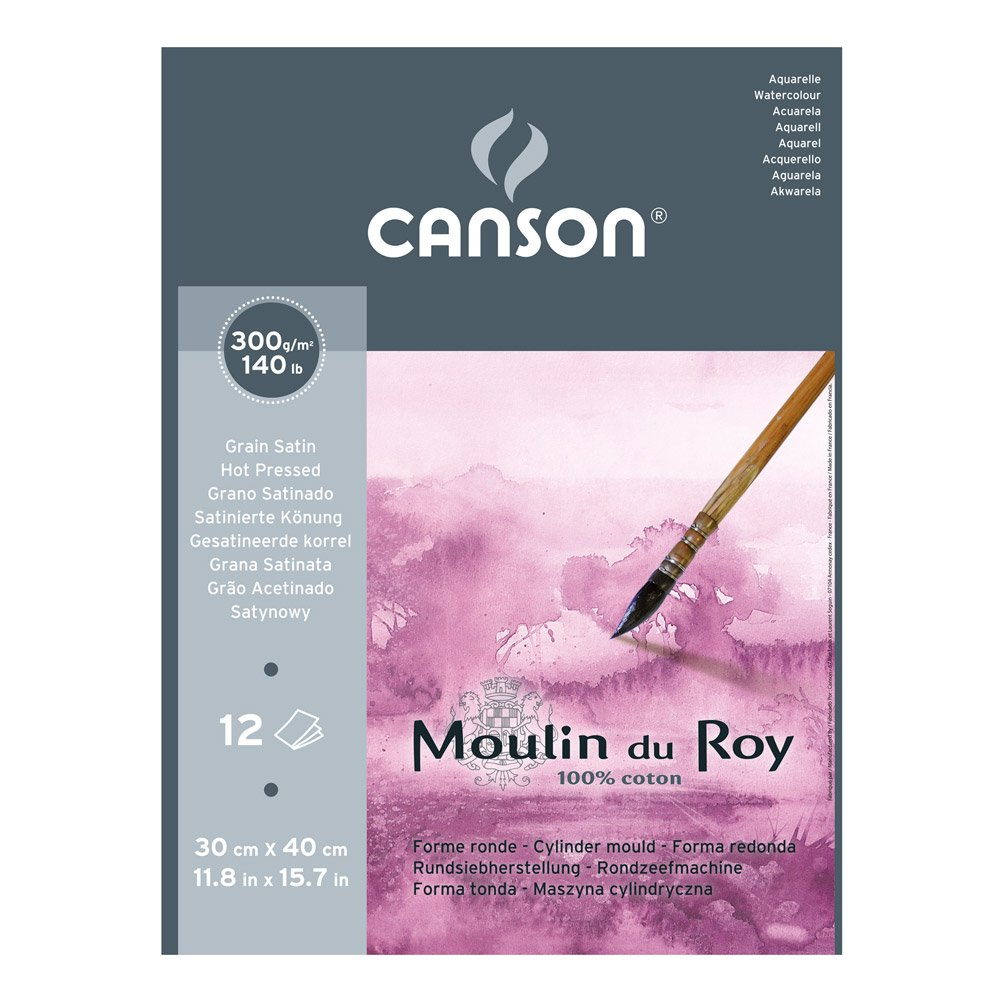 Moulin du Roy Watercolour Pad 12x16 300gsm Hot Pressed CANSON TALENS 400028952