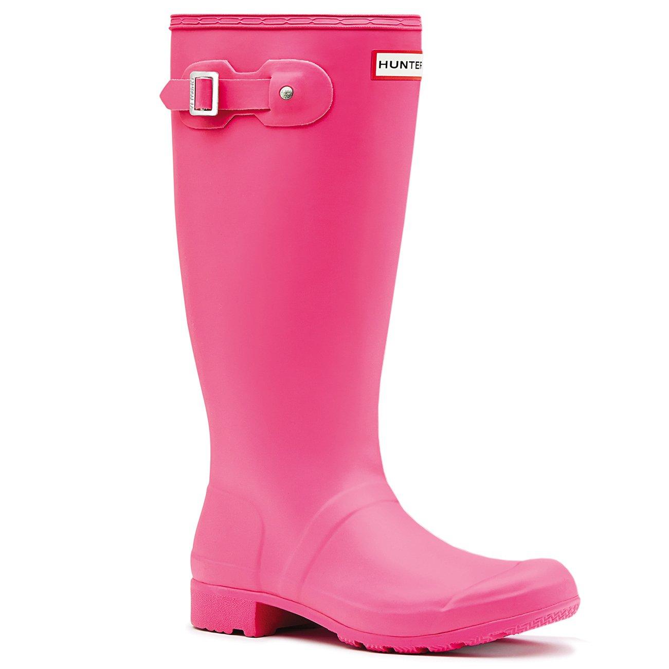 Hunter Womens Original Tour Wellington Winter Muck Galoshes Snow Boots - Bright Cerise - 8