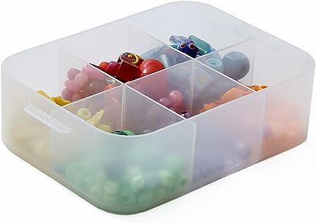 Sundis Pure Box A6+SEP TPT pcb16 Purebox Caja Empilable Multiusos Transparente-con Compartimentos y Tapa en Opción: Amazon.es: Hogar