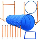 XiaZ Dog Agility Course Equipments, Obstacle Agility Training Starter Kit for Doggie, Pet Outdoor Games - Dog Tunnels, 8…