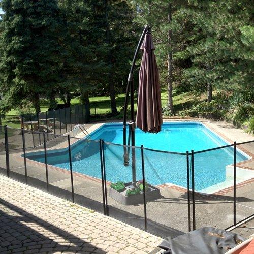 Ez Guard 4 X 12 Child Safety Pool Fence Tan Ez Guard 4 Tan