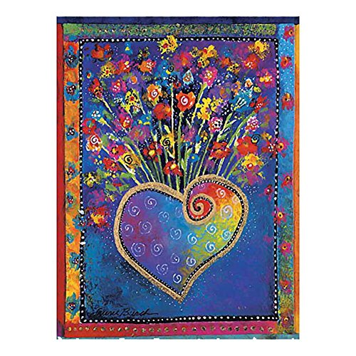 8 Pack of Laurel Burch Greeting Cards (Laurel Burch Heart of Flowers - Note Cards)