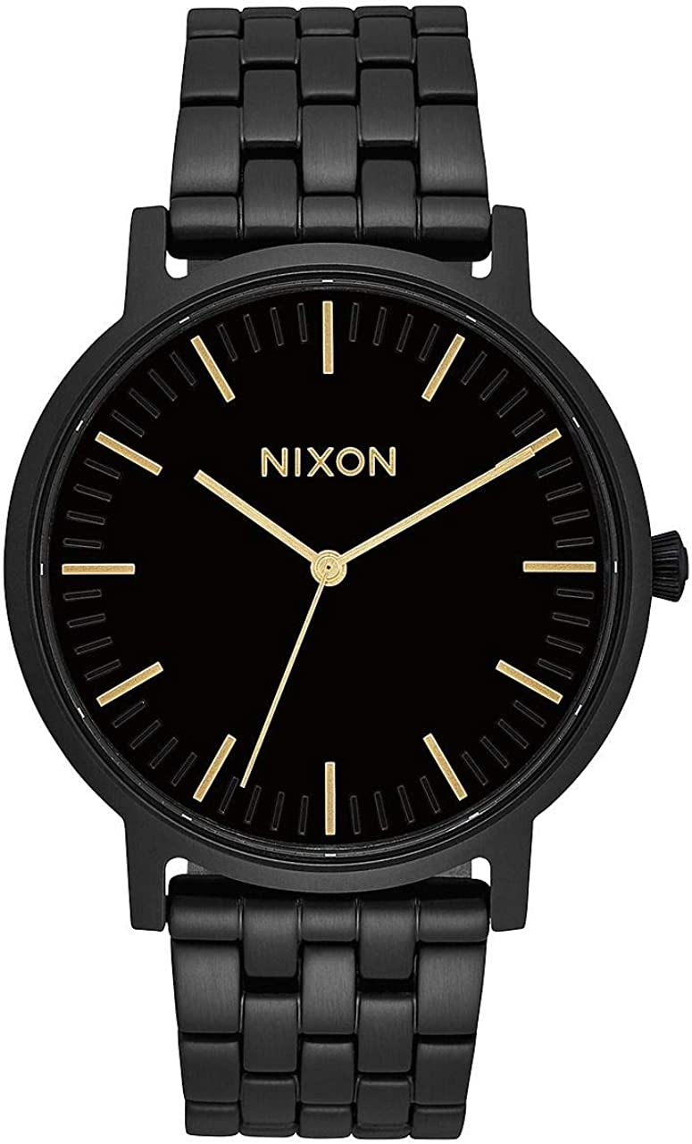 NIXON Men's Quartz Watch with Stainless Steel Strap, Black, 20 (Model: A10571031-00)