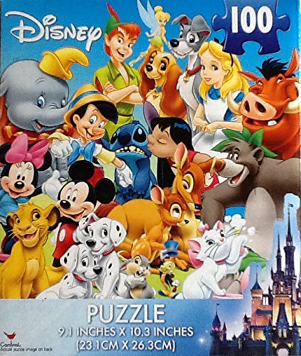 Disney Characters ~ 100 Piece Jigsaw Puzzle ~ Fantastic Time Span Then & Now! (Adult Disney Characters)
