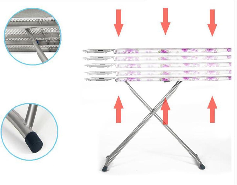 Fun Life Table a Repasser Pliable avec Jambes Extra Stable,Web en Acier Hauteur réglable Large Planche Un Fer à Repasser avec Repose-Fer Vapeur-F G