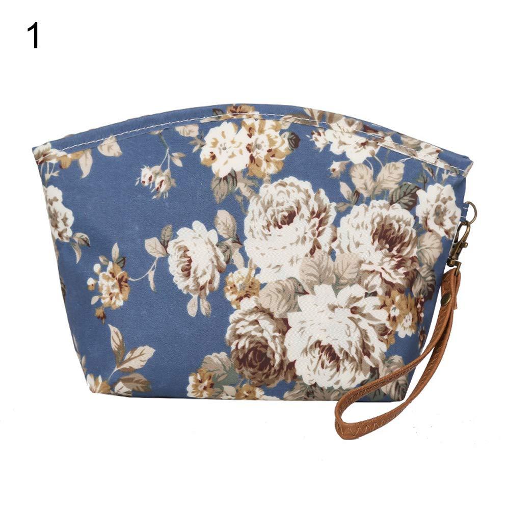 Acamifashion Women Flower Animal Cat Storage Cash Purse Card Holder Clutch Bag Handbag
