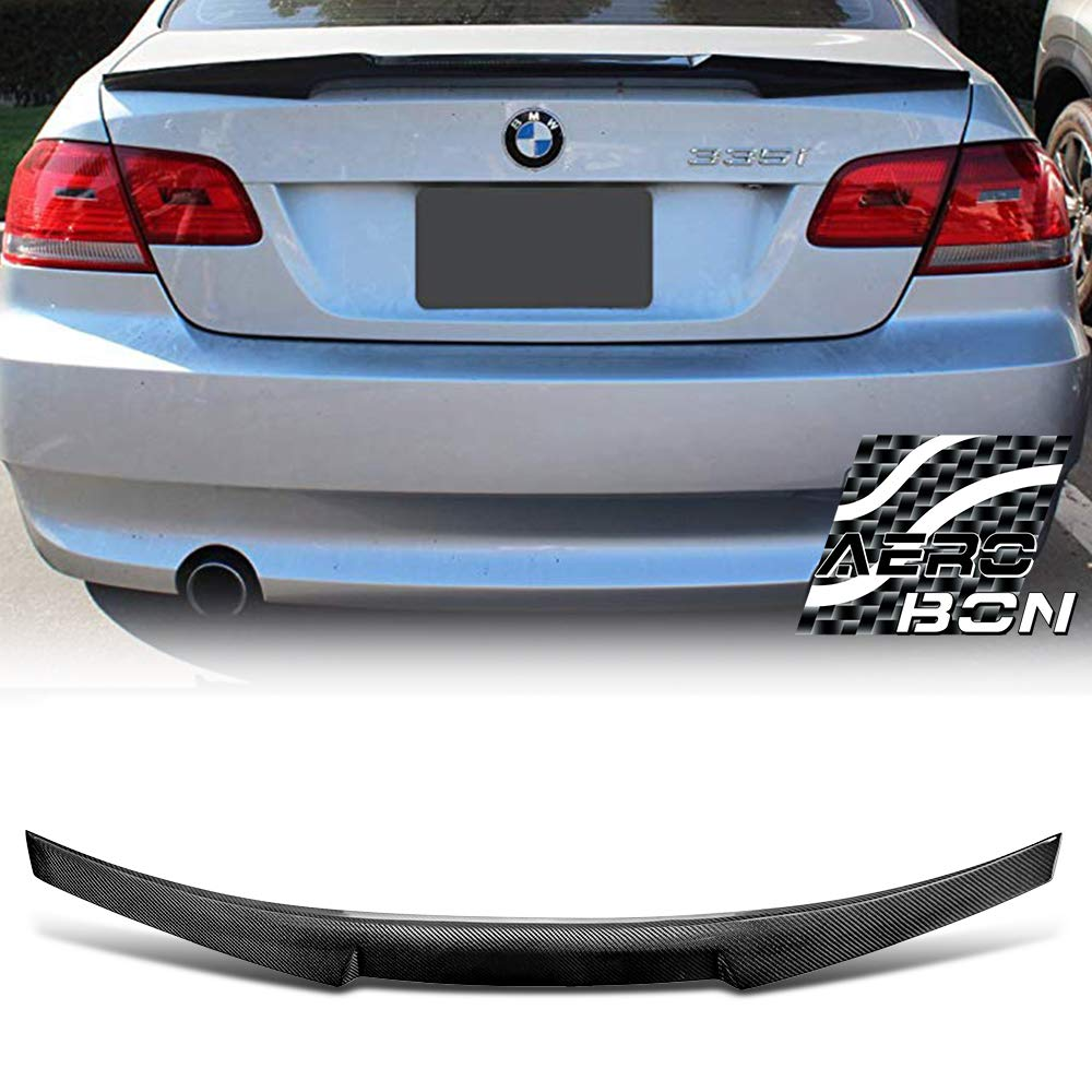CS Type AeroBon Real Carbon Fiber Trunk Spoiler Compatible with 05-13 BMW E92 3-Series Coupe and M3