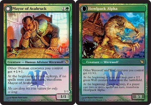 (Magic: the Gathering - Mayor of Avabruck // Howlpack Alpha - Prerelease & Release Promos - Foil )