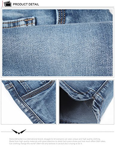 Dh6001 Short 601 Blu amp;Hunter X Demon Series Donna Jeans 7Y15Iq