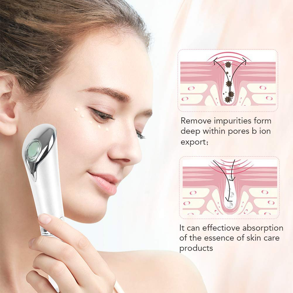 Anti-aging Galvanic Wand Sonic Eye Massager, Anions Import Rechargeable Wrinkle Remover for Dark Circles and Puffiness Upgraded Vers