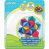 Perler - Tablero de Clavijas Hexagonal Cuentas para Manualidades Infantiles, 3 Unidades