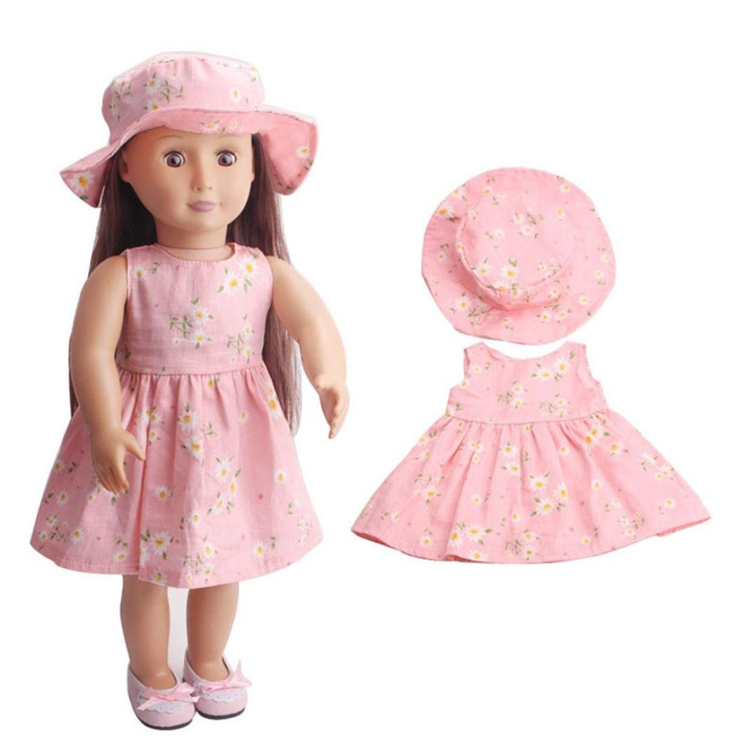 WensLTD Clearance! Skirt&Hat for 18 inch Our Generation American Girl Doll (C)