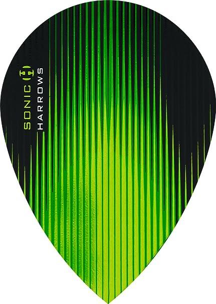 Harrows Sonic Dart Flights Standard Shape Green
