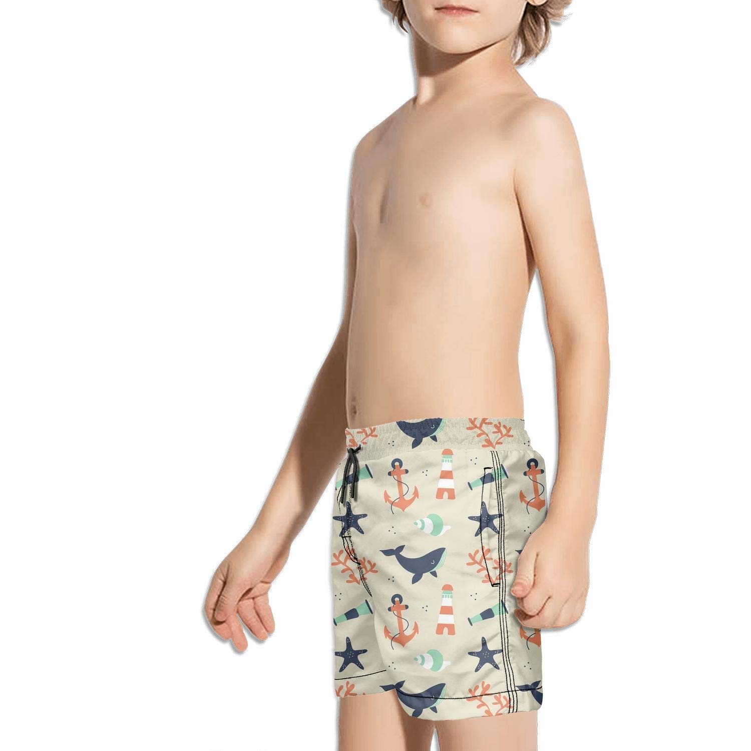 Etstk Undersea Creatures Kids Comfortable Shorts for Boys
