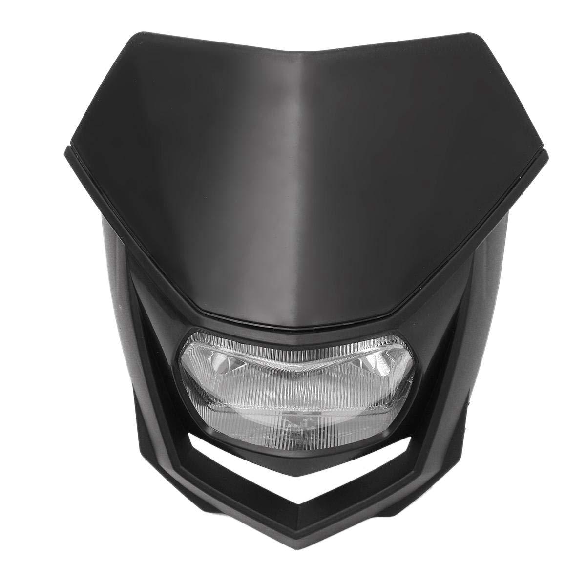 SODIAL 12V Universal Motorcycle Dirt Bike Halo Headlight head light lamp Dirt Bike Headlight Enduro for Crf Xr Wrf Yzf Drz Klx Ym-004