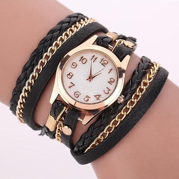 09c6b147dd13 Dosige Pulsera del Relojes Retro Estilo Romano Cuarzo Reloj de Pulsera  Mujeres Accesorios de Moda(Blanco)  Amazon.es  Hogar