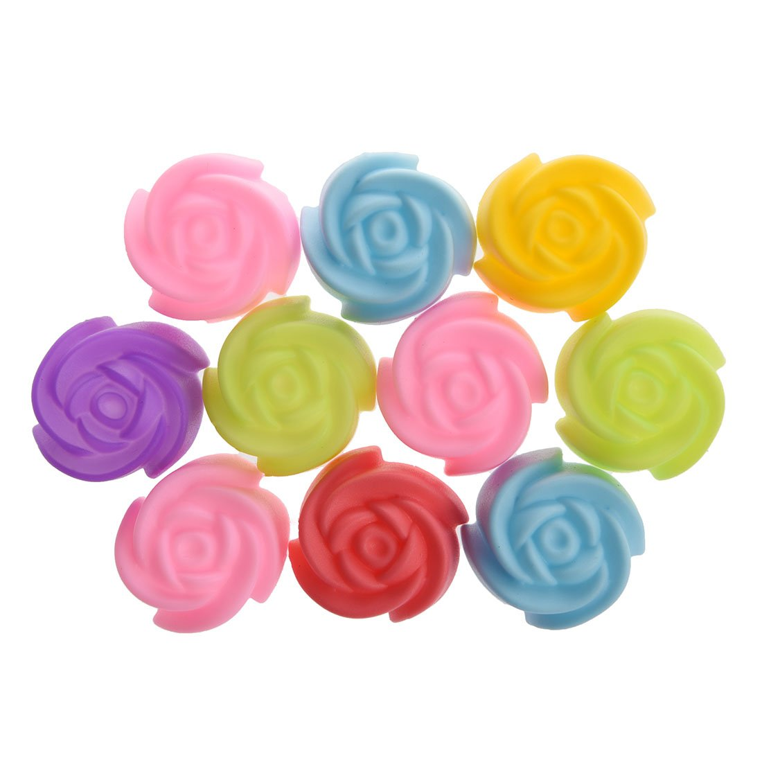 10Psc Silicone Rose Muffin Cookie Cup Cake Baking Mold Cake Decorating Supplies