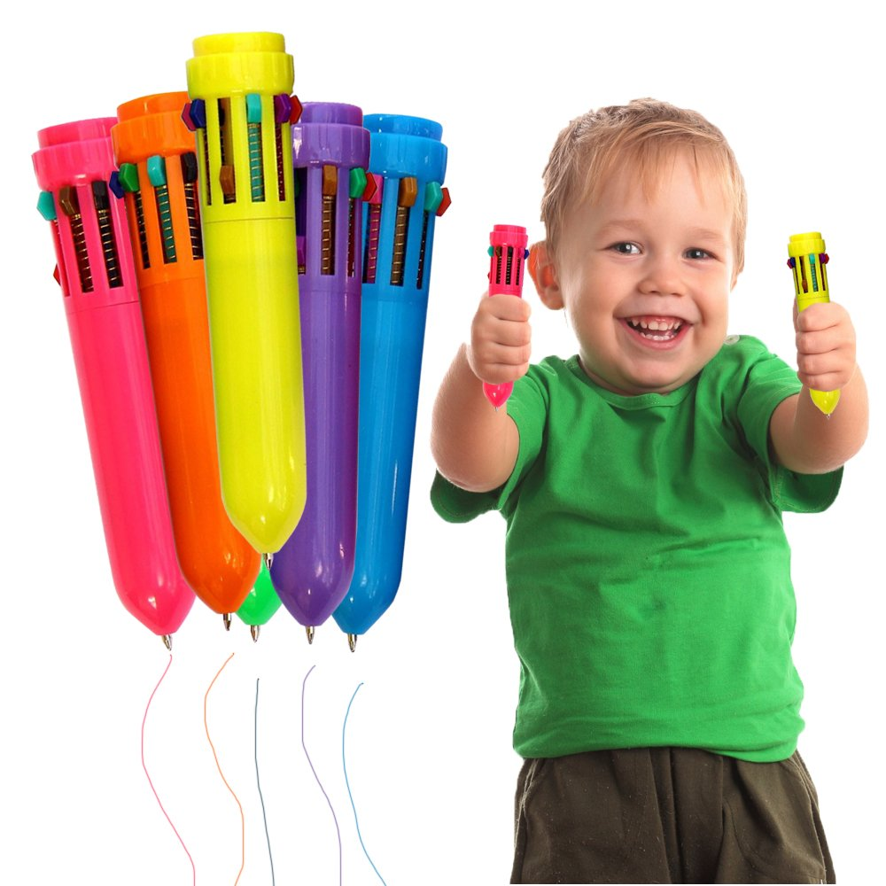 Toy Cubby Plastic Colorful Retractable Mini Shuttle Pens - 24 Pcs by Toy Cubby