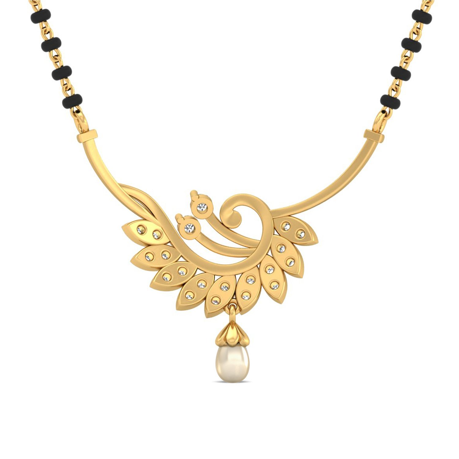 Aucent by PC Jeweller The Aurora 18 K Gold and Diamond Mangalsutra ...