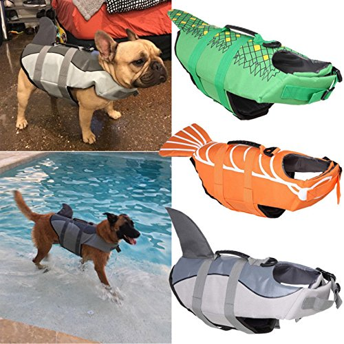 Preserver Dog Aquatic Pet - Billionaire Asia New Item Cute Pet Dog Cat Saver Life Jacket Vest Preserver Aquatic Sailing Safety S/M/L (L, Crocodile)