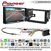 Pioneer AVIC-8201NEX Double Din Radio Install Kit with GPS Navigation Apple CarPlay Fits 2012-2013 Volkswagen Beetle, 2010-2013 Golf, 2006-2013 Jetta