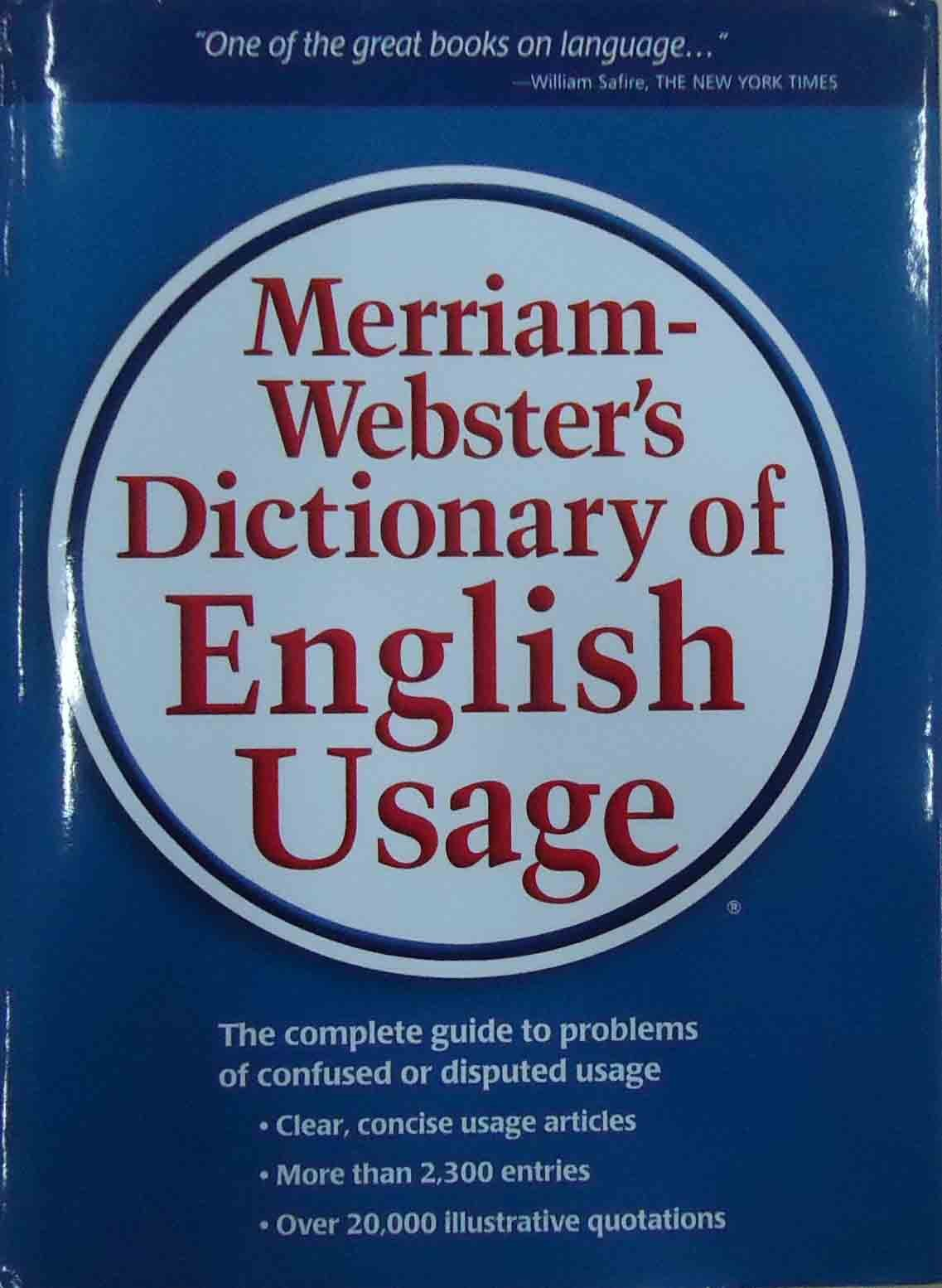 Merriam-Webster's Dictionary of English Usage: Amazon.in: Merriam-Webster:  Books
