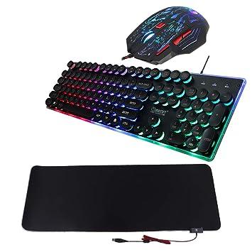 Sharplace Contraluz Elegante para Juegos, Teclado,Mouse con Iluminación Escritorio, RGB Mat: Amazon.es: Electrónica