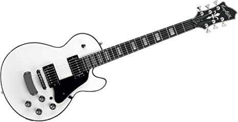 Guitarra eléctrica hagstorm super swede - blanca