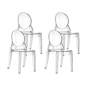 Resol Mia - Set de 4 sillas, plástico, 50 x 47 x 90 cm ...