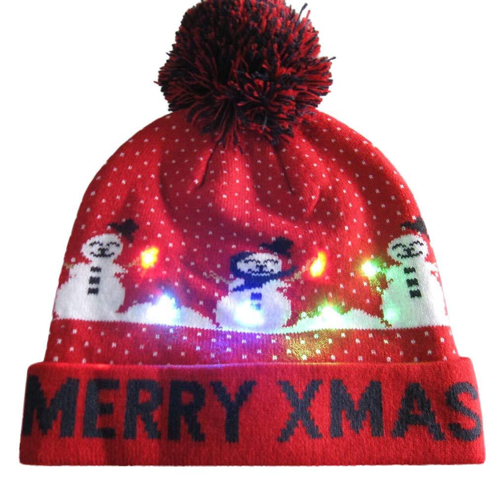 728ded450b3 Amazon.com  WUAI Christmas Hats for Adults