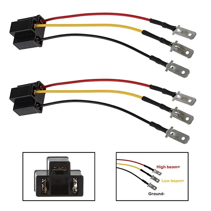 Partsam H4 9003 HB2 Wire Wiring Harness Sockets for 4