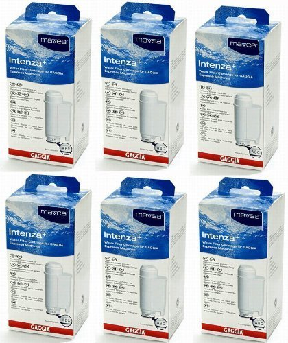 Gaggia Mavea Intenza Water Filter for Saeco & Gaggia Espresso Machines (6 Pack)