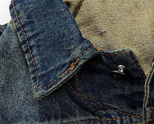 Maniche Maniche Maniche Gilet Gilet Fashion Fashion Fashion Fashion Biker Senza Outwear Uomo Slim Fit Di Jeans Moderna Gilet Casual Denim Inverno Da Coat Jeans Blau Di Autunno Ezww8F