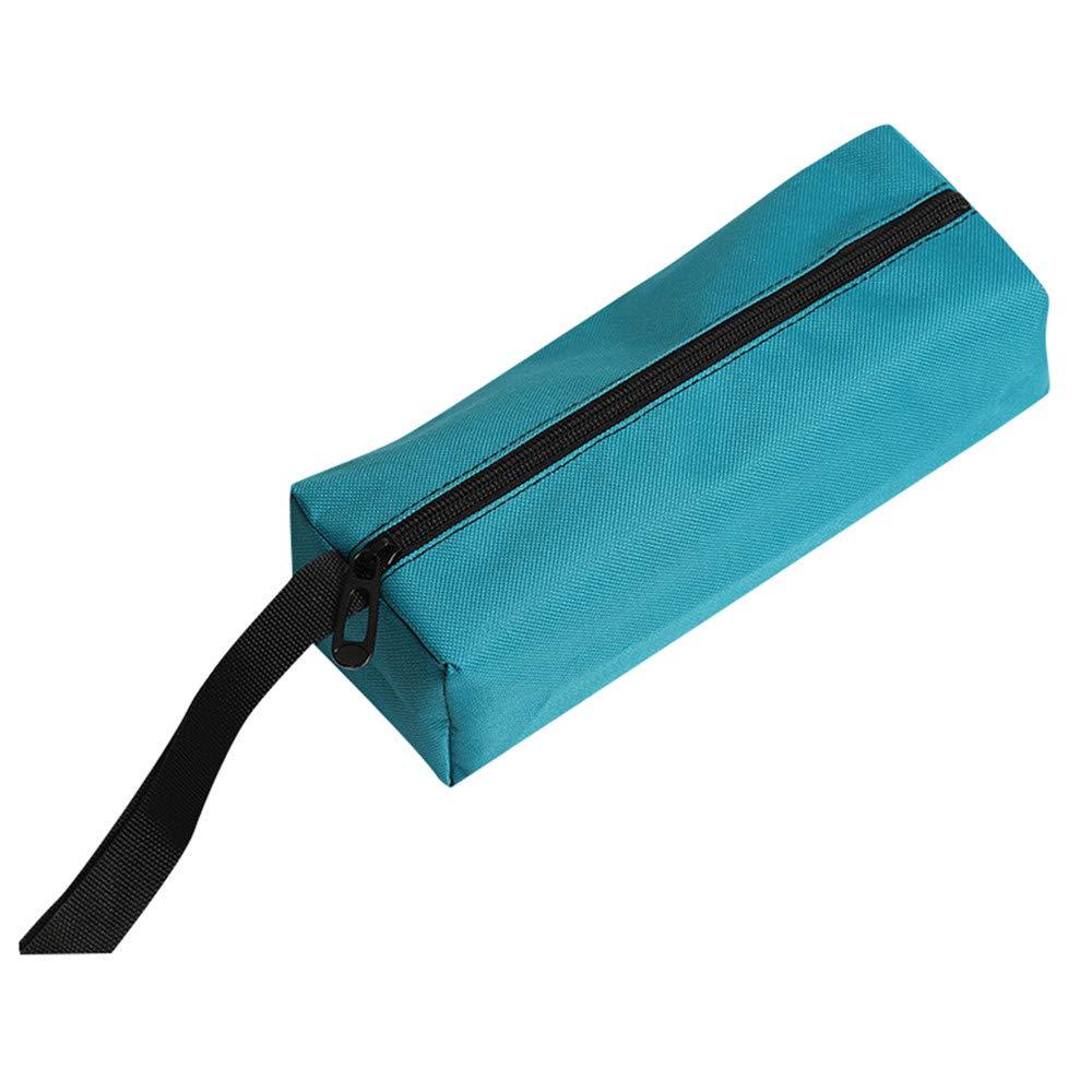 Glumes Canvas Zipper Bag,Heavy Duty Tool Pouch Tote Bags, Multi-purpose Tools Organize Storage