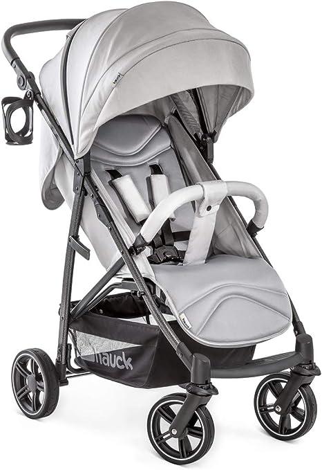 Opinión sobre Hauck 148396 - Rapid 4S silla de paseo hasta 25 kg con respaldo reclinable desde nacimiento, capota extra grande, manillar ajustable en altura, plegable con una mano, portavasos, gris