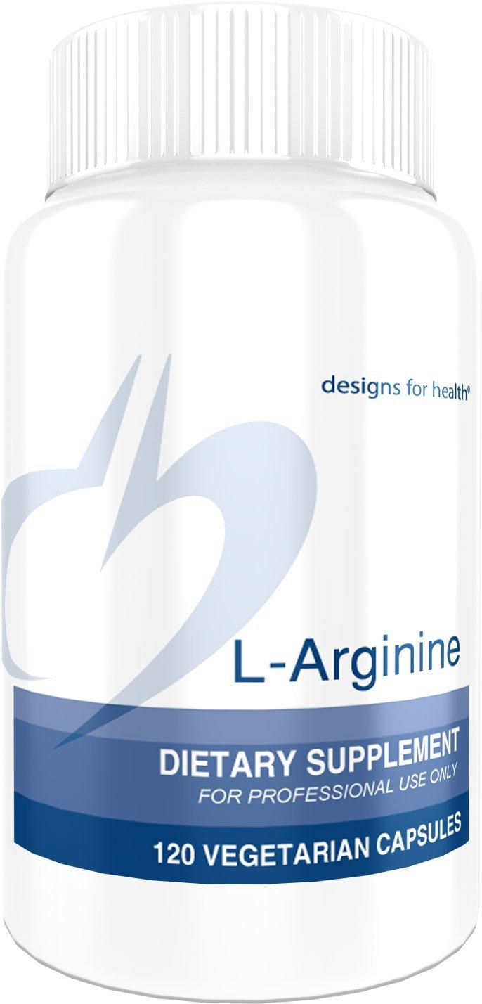 Designs for Health L-Arginine 750mg – Amino Acid Nitric Oxide Booster 120 Capsules